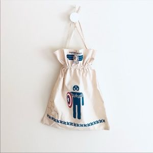 Kiehl's x Captain America drawstring bag